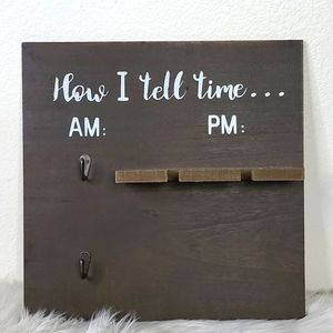 """""""How I tell time""""  wall hanging kitchen dining"""